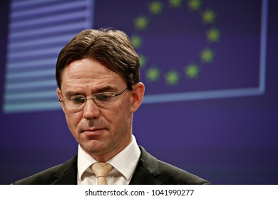 Press conference by European Commission Vice-President for Jobs, Growth, Investment and Competitiveness, Jyrki Katainen  on the Health Technology Assessment in Brussels, Belgium on Jan. 31, 2018.