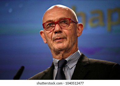 Press conference by Pascal Lamy, President Emeritus of the Jacques Delors Institute, on the report on the role of research and innovation for Europe's future in Brussels, Belgium on Jul. 3, 2017.