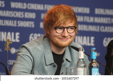 "Press conference at the Grand Hyatt Hotel in Berlin/Germany for "" Songwriter"" by 68th Berlinale, at 23th February, 2018. with Ed Sheeran."
