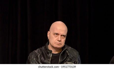 press conference of Slavi Trifonov in Sofia, Bulgaria April 19, 2017