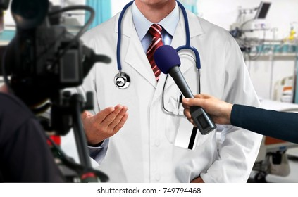 Press interview with medical doctor