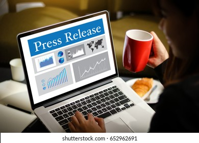 Press Release  concept, Thoughtful male person looking computer