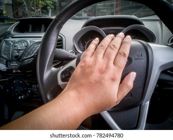 Pressing the horn