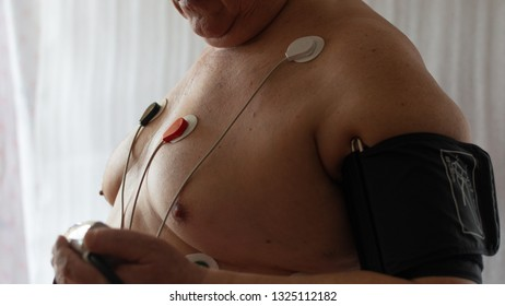 Pressure control. ECG according to Holter.