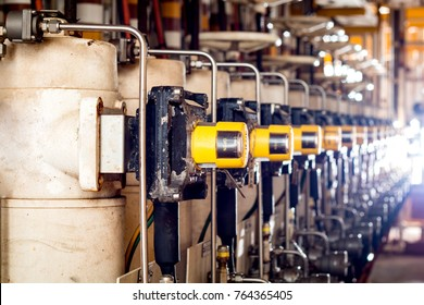 Pressure control valves or Shutdown valves in oil and gas process and controlled by Program Logic Control, PLC controller the valve and control instrument gas supply to actuator of the valve as PLC