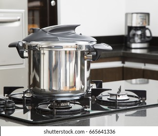 Pressure Cooker in a Kitchen setting