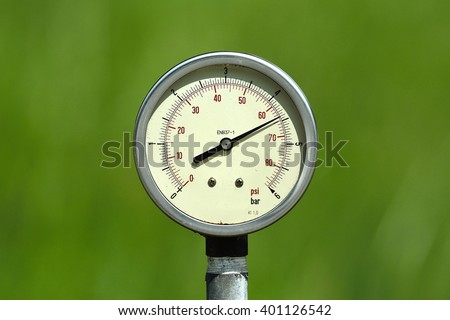 Pressure Gauge BAR PSI Unit General Stock Photo (Edit Now) 401126542