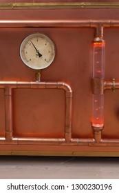 Pressure sensor on copper pipe for steam control