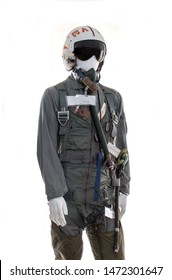 pressure suit for a pilot in the USA air force on display