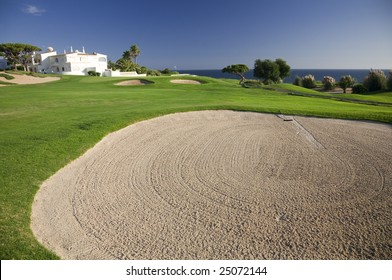 Prestigeous golf course by a sea