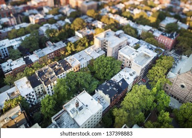 Prestigious Brooklyn Heights from above, New York City