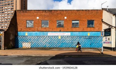Preston, England, 02 26 2021: Dilapidated and rundown property in Preston, Lancashire.