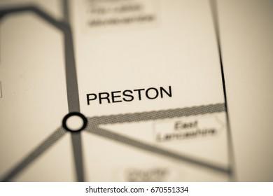 Preston Station. Liverpool Metro map.