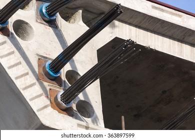prestressed concrete bridge girdes, post-tensioned