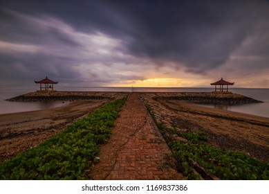 Pre-sunrise Scenery at Karang Beach, Sanur, Bali, Indonesia