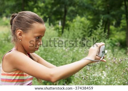 preteen girl making pictures digital camera stock photo edit now rh shutterstock com