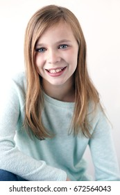 preteen girl smiling