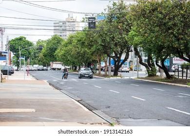 Ribeirão Preto - SP, Brazil - December 07, 2020: Traffic on a ordinary day at the Avenida Independência avenue.