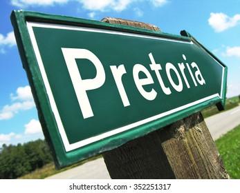 Pretoria road sign