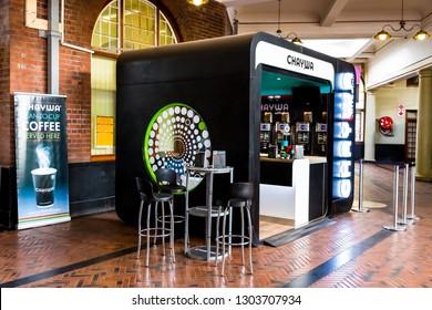 Pretoria, South Africa - November 07 2014: Pop Up Coffee Shop at Train Station