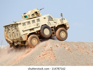 PRETORIA, SOUTH AFRICA - SEPT. 19 : A Nyoka  armoured personnel carrier from BAE Systems seen during the African Aerospace & Defence show on Sept. 19, 2012 at AFB Waterkloof in Pretoria