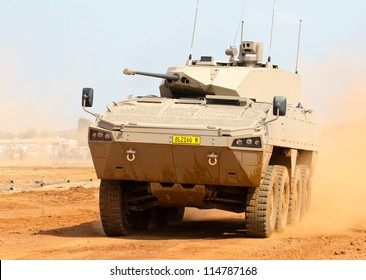 PRETORIA, SOUTH AFRICA - SEPT. 19: A Badger infantry fighting vehicle from Denel Land Systems seen during the African Aerospace & Defence show on Sept. 19, 2012 at AFB Waterkloof in Pretoria.