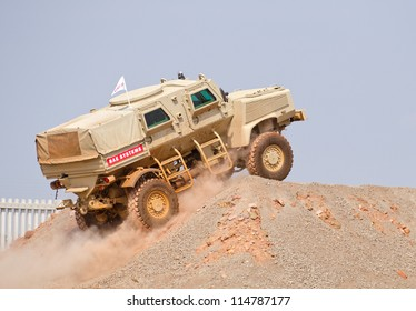 PRETORIA, SOUTH AFRICA - SEPT. 19: A Nyala RG-31 armoured personnel carrier from BAE Systems seen during the African Aerospace & Defence show on Sept. 19, 2012 at AFB Waterkloof in Pretoria.