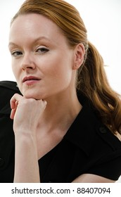 Pretty attractive brunette european caucasian twenties business woman lifestyle