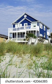 pretty beach rental room for your text both top and bottom. Perfect for cover art