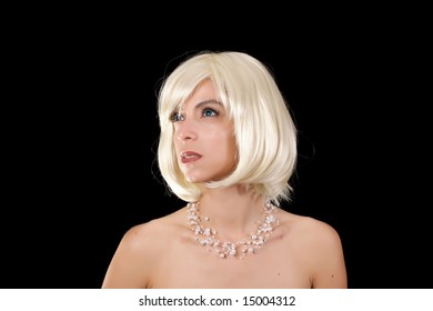 pretty blond at a photo shoot