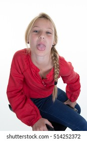Jailbait teen girls tongue out 9