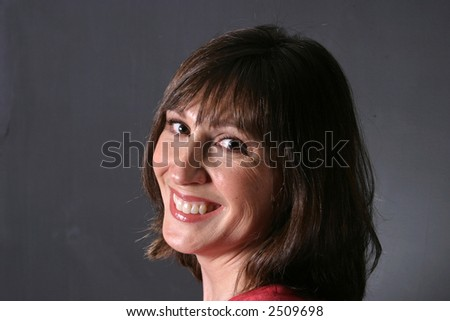 Pretty Brunette Mom Smiling With Great Teeth