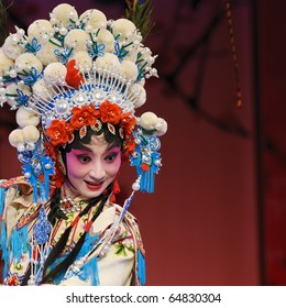 a pretty chinese opera  actress