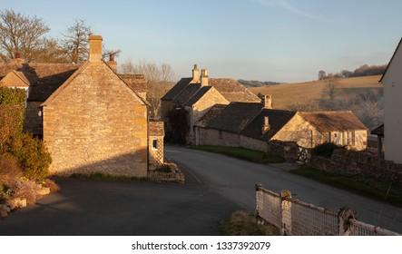 Pretty Cotswold village of Naunton, Gloucestershire, England