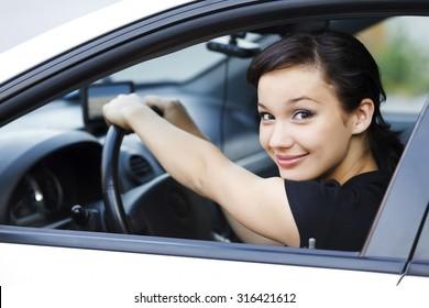 Pretty female driver