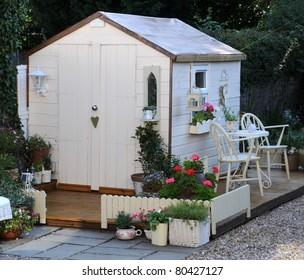 pretty garden shed