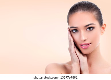 Pretty girl with clean and fresh skin. Skin care concept