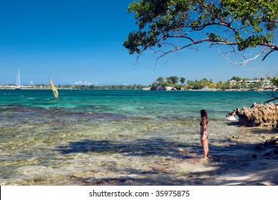 Pretty girl enjoying her Jamaica vacation