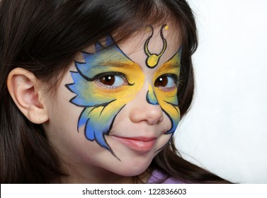 Pretty Girl Face Painting Clown Stock Photo Edit Now 119783791