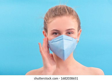 Pretty girl in medicine mask after beauty treatment face. Stay home stay beauty