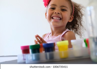 Pretty Girl Painting smiling