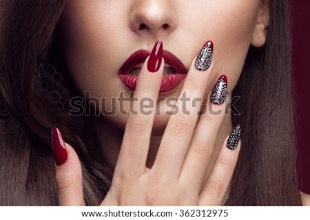 Pretty Girl Unusual Hairstyle Bright Makeup Stock Photo Edit Now