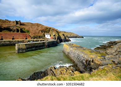 The pretty harbour at Porthgain near St Davids in the Pembrokeshire Coast National Park in Wales