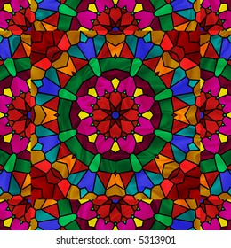 Pretty kaleidoscope in rainbow colors.
