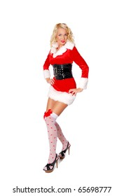 Pretty lady in a Snow Maiden costume