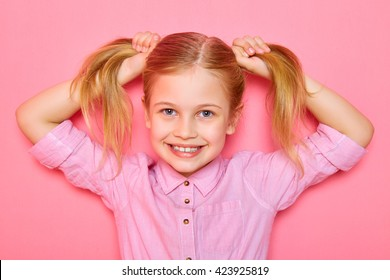 Admirable Girl With Ponytail Stock Photos Images Photography Shutterstock Natural Hairstyles Runnerswayorg