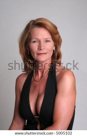 Pretty Mature Woman Looking At Camera