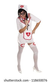 a pretty nurse, ready to care for their patients