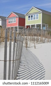 Pretty oceanfront beach rental homes at the seashore.