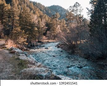 Pretty river in Eldorado canyon national park